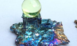 Bismuth marble stand.