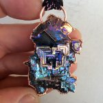 Large bismuth crystal pendy.