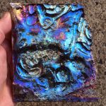 Bismuth Ingot Art Sculpture.