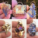 Bismuth pendants.
