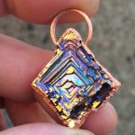 Square Sparkle Bismuth Gem Pendy.